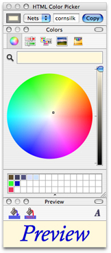Screenshot of HTMLColorPicker